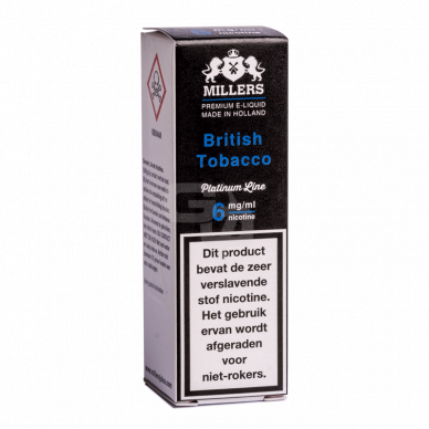Millers Juice Platinumline British Tobacco