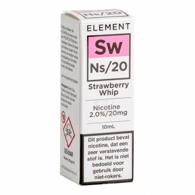 Element Nic Salts Strawberry Whip NS/20MG